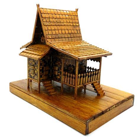 cara membuat rumah adat jambi dari kardus jual miniatur rumah adat banjar rumah baanjung dari