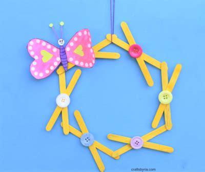 colorful popsicle colorful popsicle stick wreath favecrafts