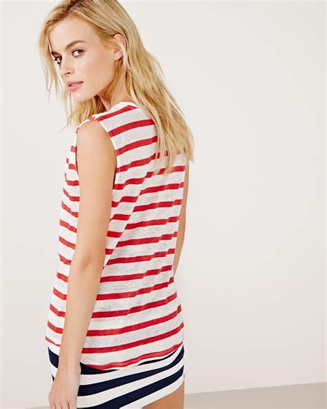 Tshirt Bonjour Item bonjour sleeveless t shirt with stripes rw co
