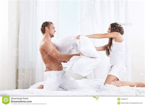 pillow fight stock image image 15592271