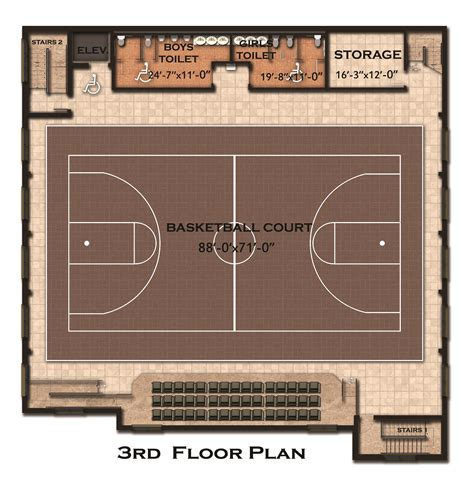 basketball floor plan home floor plans with indoor basketball court