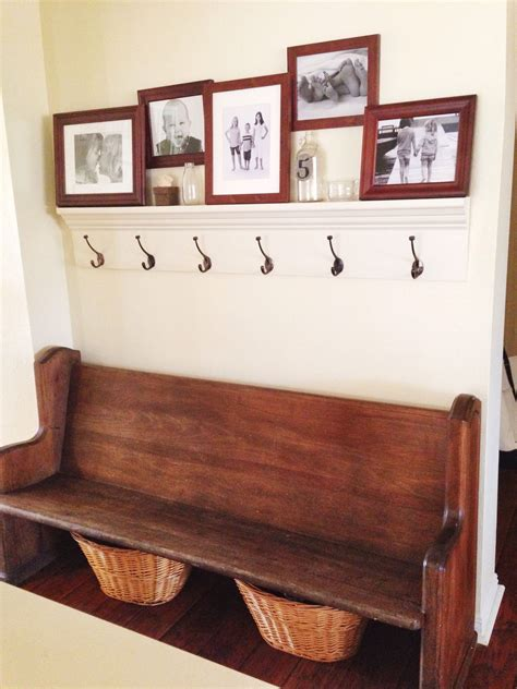 entryway bench and hooks when you don t have a mud room hallway pinterest mud