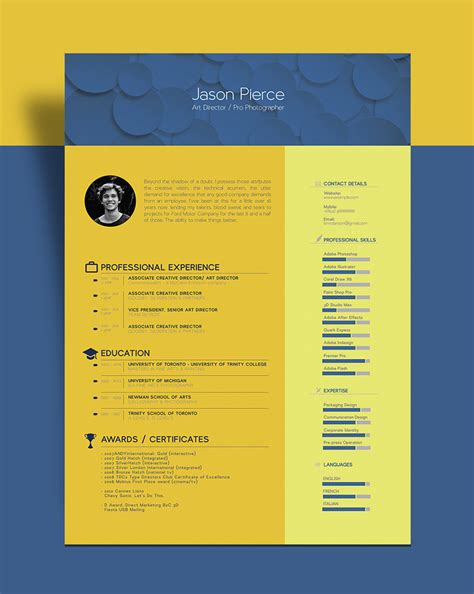 nice design cv template free beautiful resume cv template for graphic designer