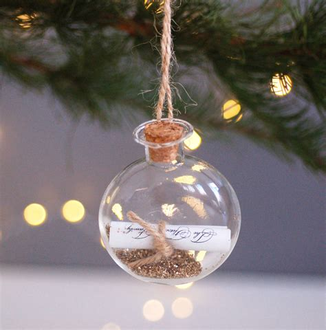 how to decorate christmas baubles personalised wish hanging decoration bauble by made with designs ltd