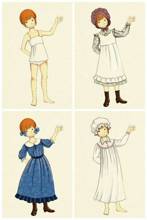 little house paper dolls pioneer dress up doll printable adventure in a box