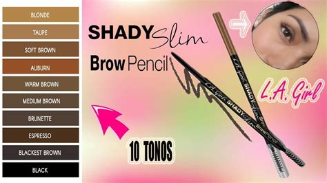 L A Shady Slim Brow Pencil l 192 piz de cejas l a shady slim brow pencil