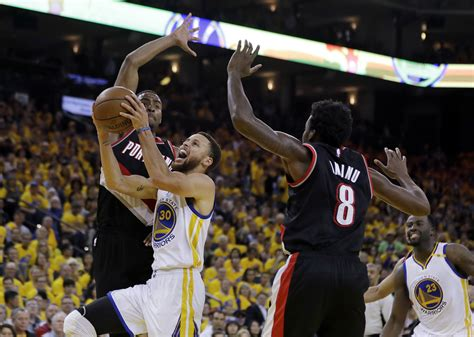 warriors trail blazers warriors take 2 0 series lead on blazers win without