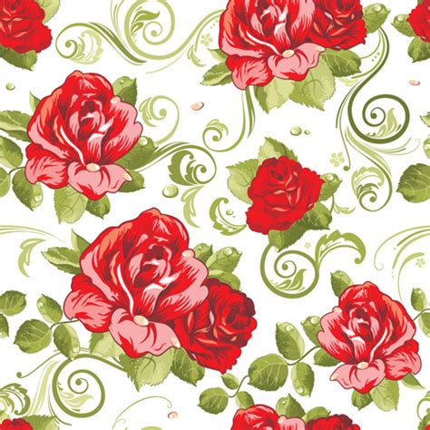pattern flowers vector vivid flower patterns design elements vector 02 vector