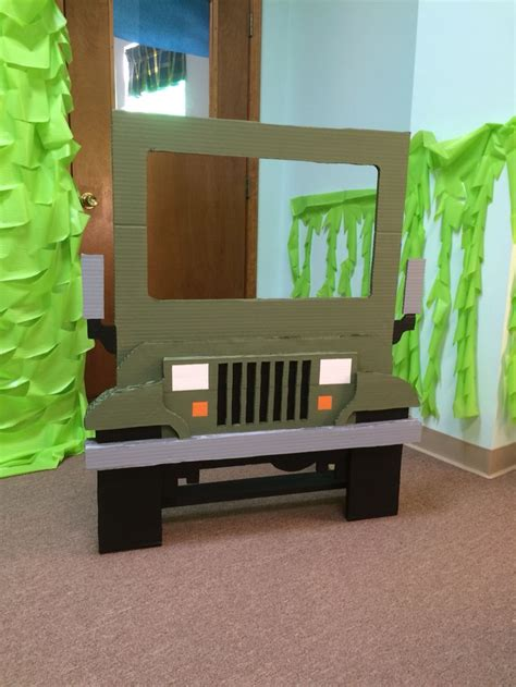 jeep cing ideas widget worm cardboard jeep king of the jungle