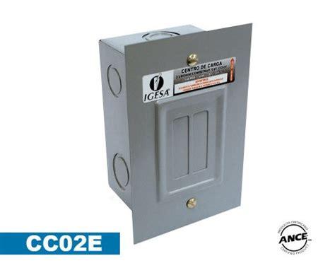 oficina zoom merida centro de carga 2 polos empotrar cc02e igesa