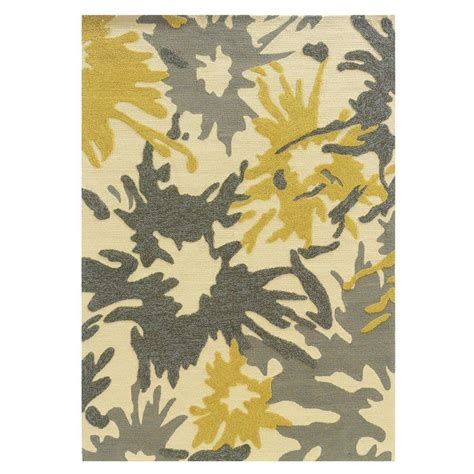 rugs and home decor linon home decor le soliel collection ivory and yellow 5