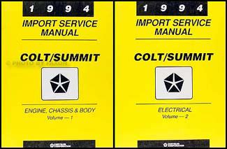 how to download repair manuals 1994 eagle summit navigation system 1994 shop manual set dodge plymouth colt eagle summit ebay