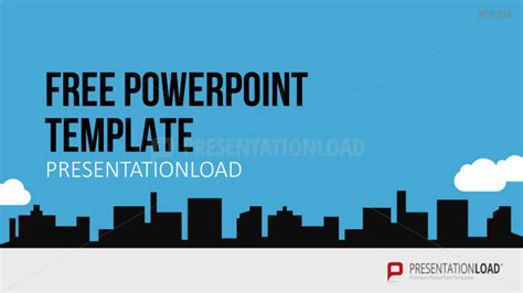 Presentationload Free Powerpoint Template City Skyline City Powerpoint Template