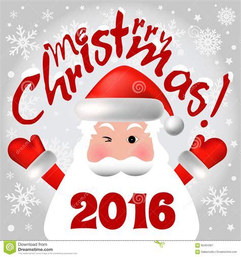 imagenes de merry christmas 2016 2016 merry christmas card with santa claus stock