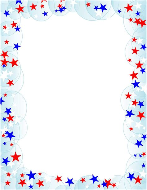 printable star border white border png free borders and clip art