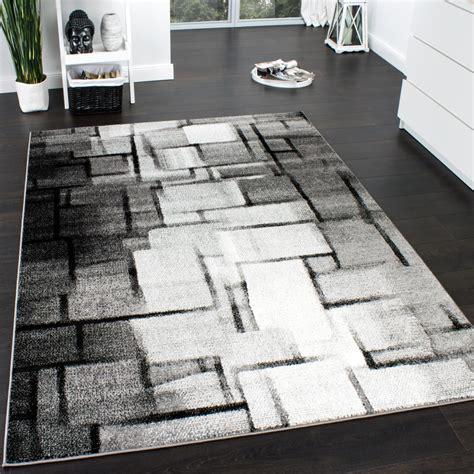 teppich modern grau designer teppich modern trendiger kurzflor teppich karo