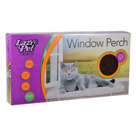 deluxe pet cat window seat perch lazy pet deluxe cat window perch assorted colors pets geeks
