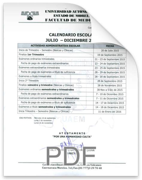 Calendario Escolar Uaem Descargar Calendario Gt Gt