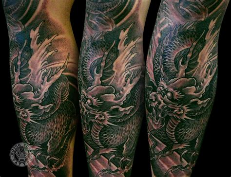 dragon leg tattoo butch rosca portfolio