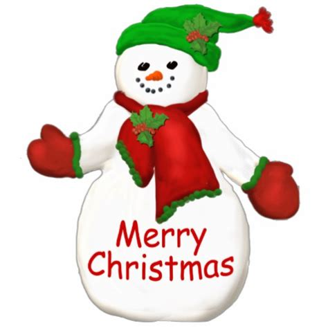 merry christmas snowman ornament cut out zazzle