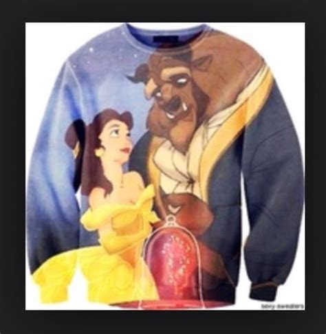 Outwear Sweater Beast sweater disney sweater and the beast girly wheretoget