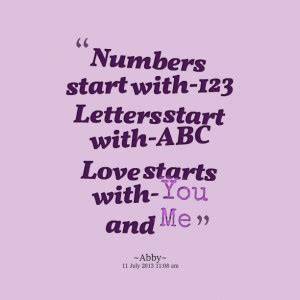 Sayings With Numbers And Letters