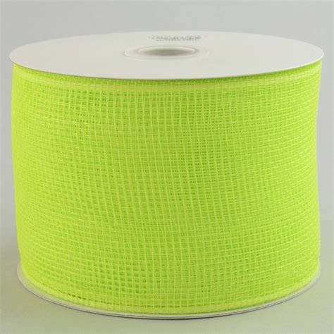 Poly Apple 4 quot poly deco mesh ribbon apple green rs200156