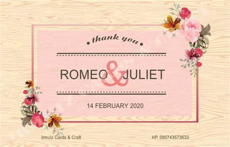 desain kartu ucapan di souvenir pernikahan harga kartu ucapan terima kasih full colour untuk souvenir