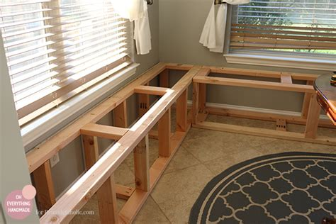 how to build a kitchen bench seat kitchen nook makeover adding a bench