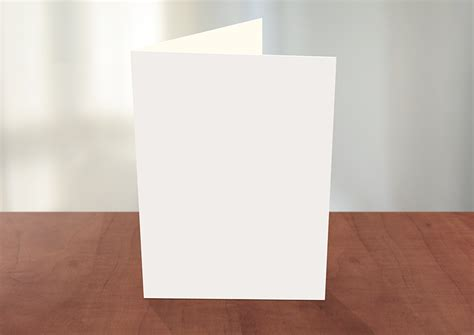 Card Template Photoshop by Greeting Card Photoshop Mockup Pitchstock