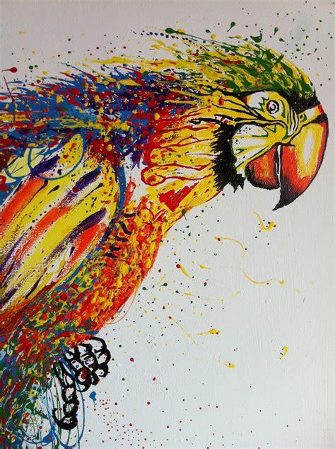 Color Blind Artists colour parrot the colour blind artist