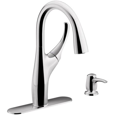 kohler single handle kitchen faucet kohler mazz single handle pull sprayer kitchen faucet