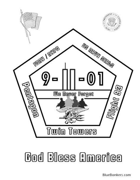 Coloring Page For 9 11 by 9 11 Coloring Pages 9 11 01 Memorial Rememberance
