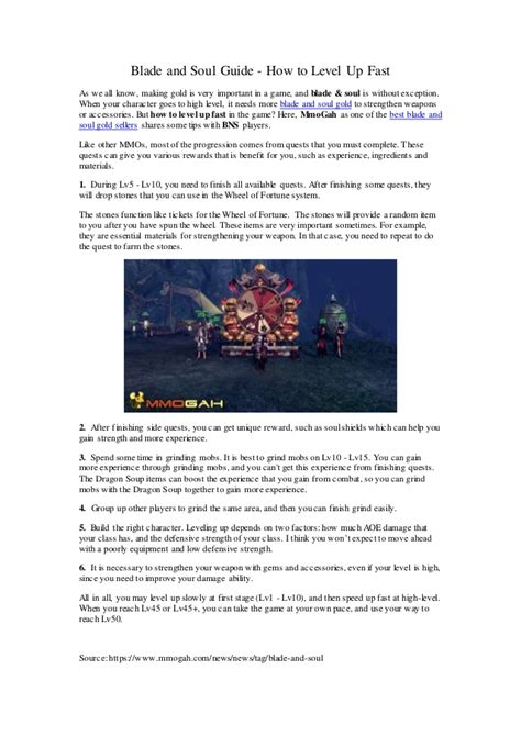 Blade And Soul How To Search For Blade And Soul Guide How To Level Up