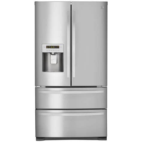 Kenmore Refrigerator Drawers by Kenmore 72493 26 7 Cu Ft 4 Door Door Refrigerator W Dual Freezer Drawers Stainless