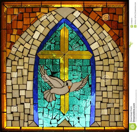 stained glass cross l vintage hispanic catholic stained glass dove cross stock