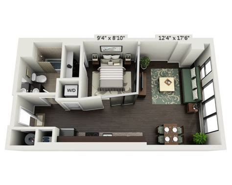 Garage Apartment Plans Floor Plans And Pricing For Delray Tower Apartments Alexandria