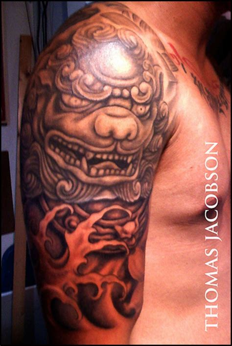 fu dog tattoo 40 ultimate foo designs