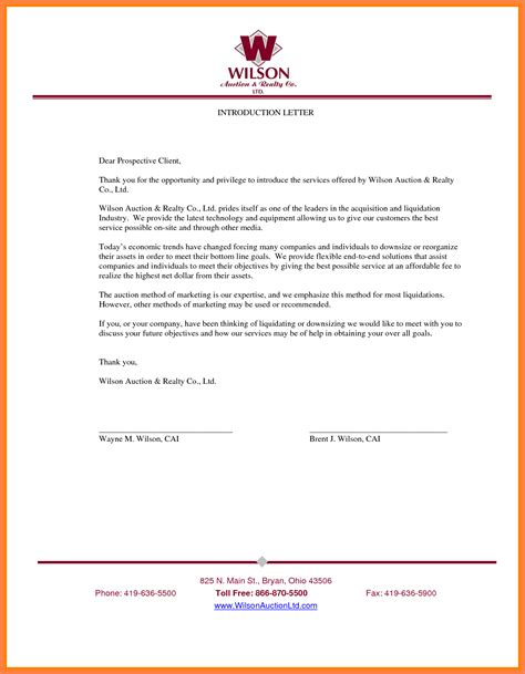 Business Introduction Letter To Prospective Clients 9 company introduction letter to client sle company