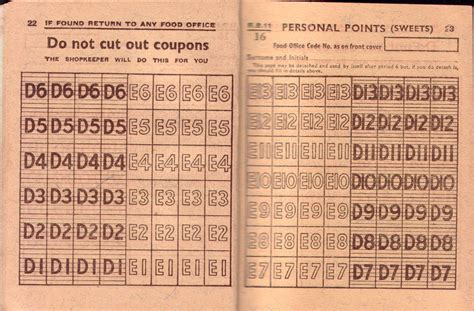 printable ration book template barnes family history ration book