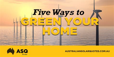 ways to be green at home five ways to green your home