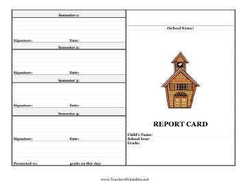 teachers report card template report card