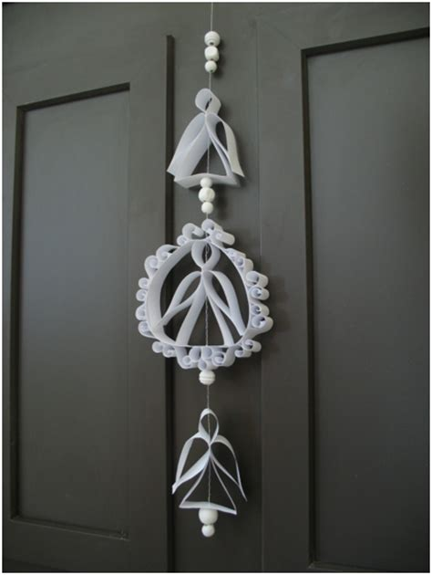 hanging paper christmas decorations