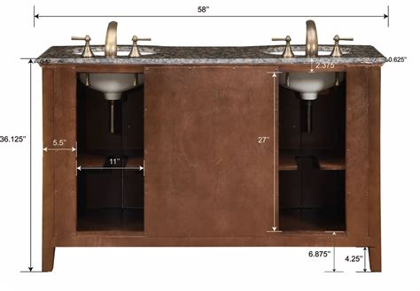 58 inch carnation vanity sink chest sink