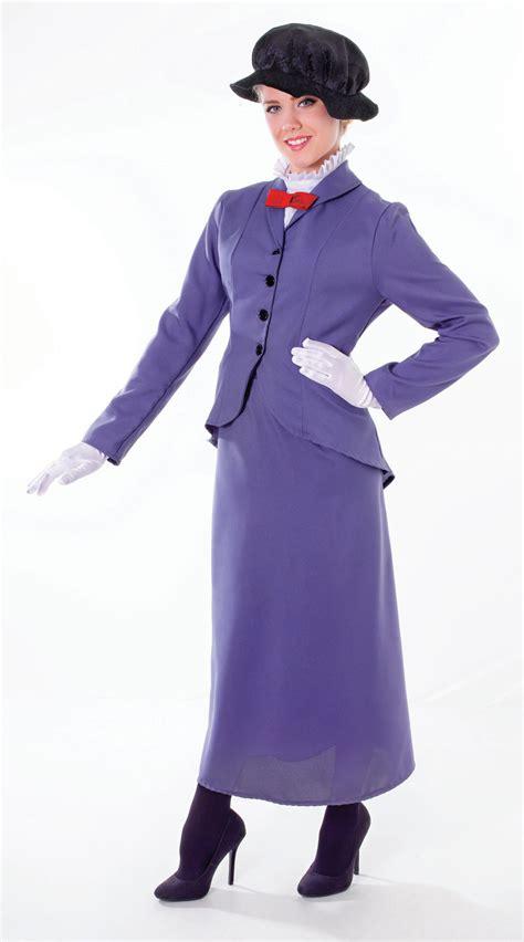 Nanies Dress womens poppins fancy dress costume nanny world book day ebay