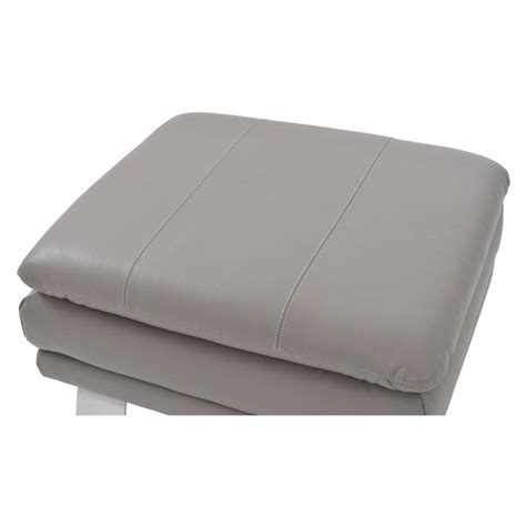 Gray Leather Ottoman Gray Leather Ottoman El Dorado Furniture