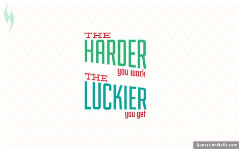 Work Harder work harder get luckier motivational wallpaper for desktop
