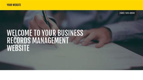 Business Records Business Records Management Website Templates Godaddy