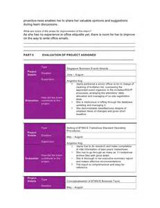 intern evaluation template internship evaluation form