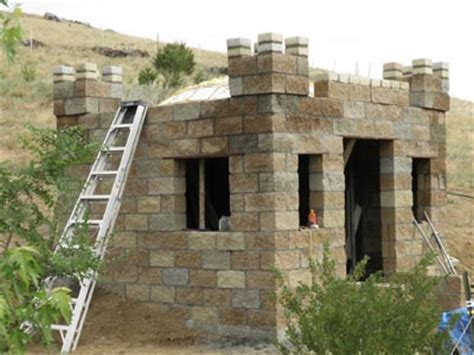 Small Cabins Floor Plans by Castle Construction Building A Split Face Block Castle